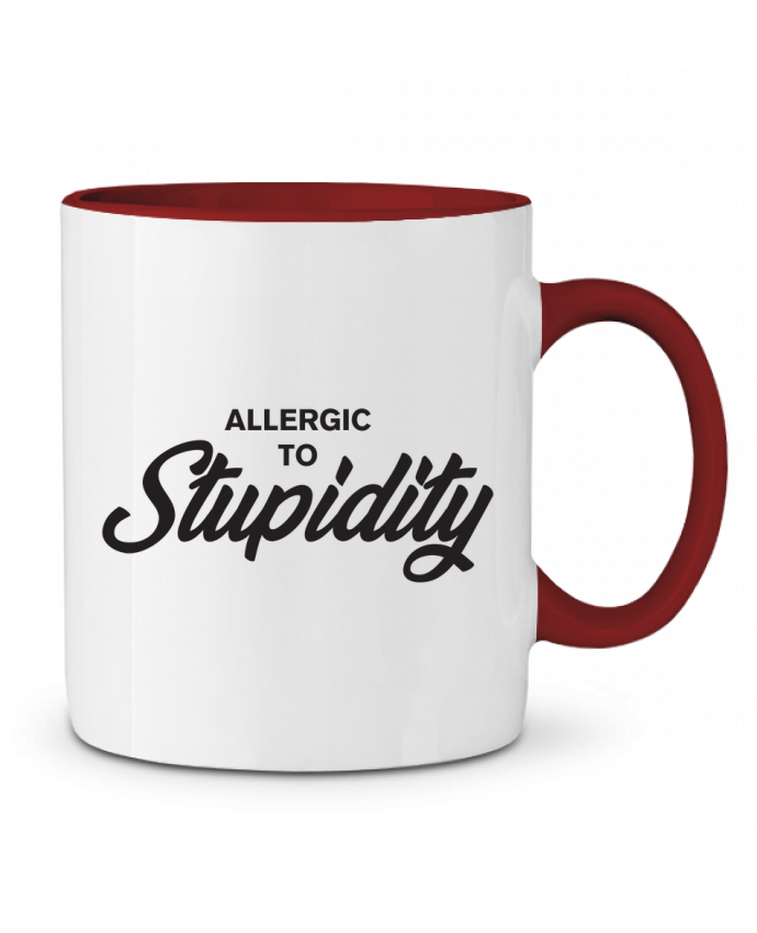 Two-tone Ceramic Mug Allergic to stupidity tunetoo