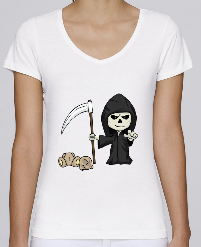 T-Shirt V-Neck Women Stella Chooses mini death by Fnoul