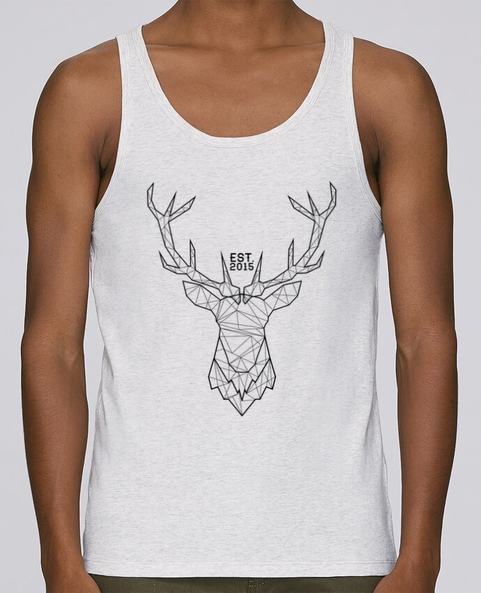 Tank Top Men Stanley Runs Organic cotton CERF GRAPHIQUE by PTIT MYTHO 100% coton bio