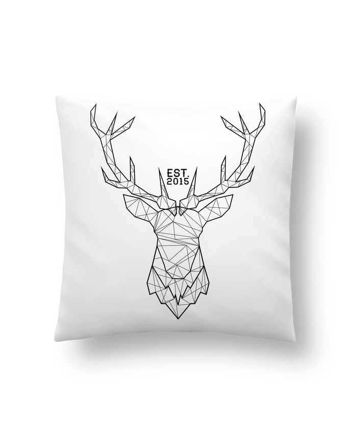 Cushion synthetic soft 45 x 45 cm CERF GRAPHIQUE by PTIT MYTHO
