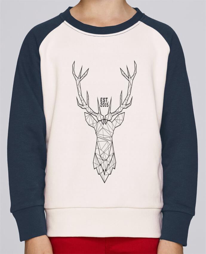Sweatshirt Kids Round Neck Stanley Mini Contrast CERF GRAPHIQUE by PTIT MYTHO