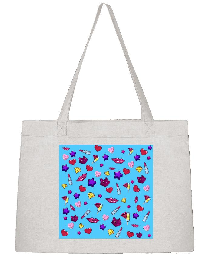 Shopping tote bag Stanley Stella Fashion Girl - Digital Pattern 1 by inchauspe