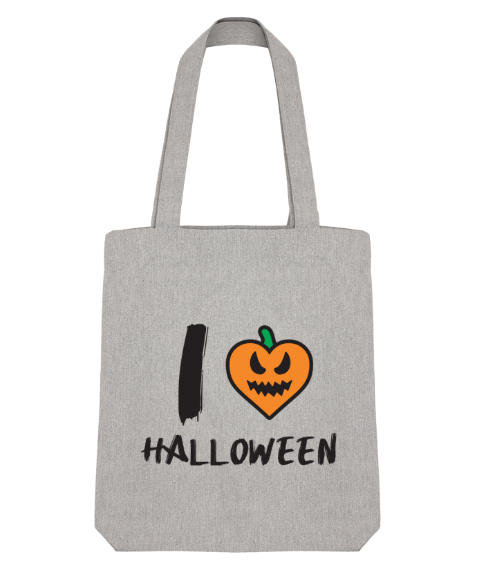 Tote Bag Stanley Stella I Love Halloween by tunetoo