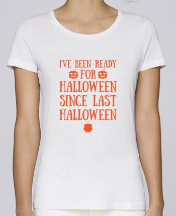 T-shirt  Femme Brodé Ready for Halloween by tunetoo