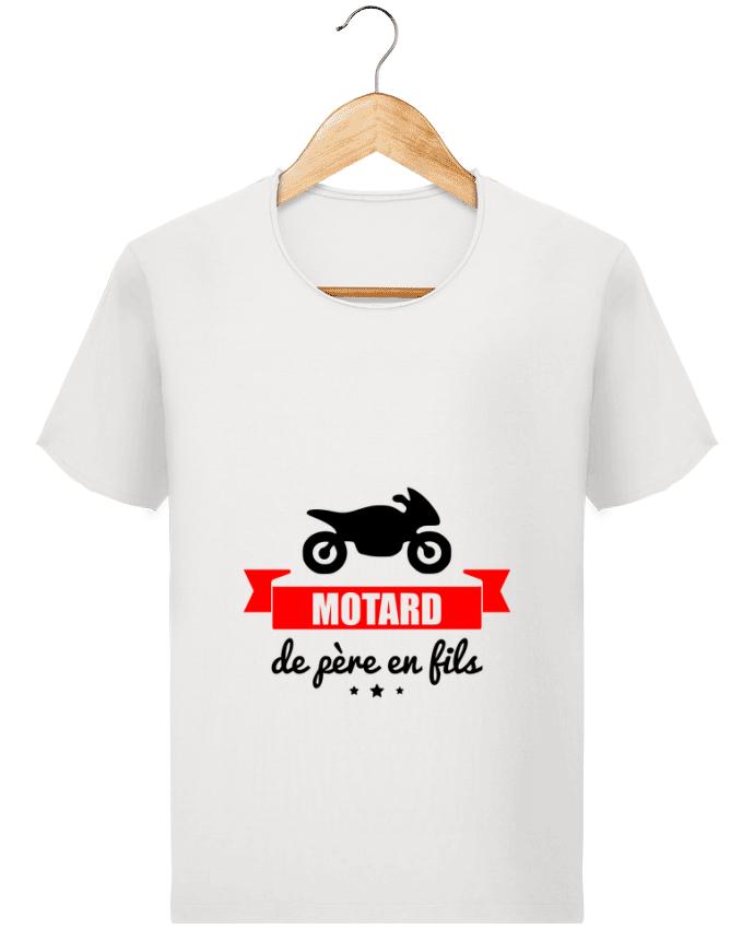 T-shirt Men Stanley Imagines Vintage Motard de père en fils, moto, motard by Benichan