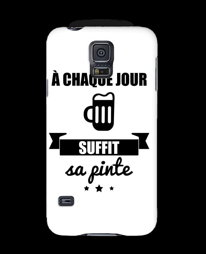 Case 3D Samsung Galaxy S5 À chaque jour suffit sa pinte, bière, apéro, alcool by Benichan