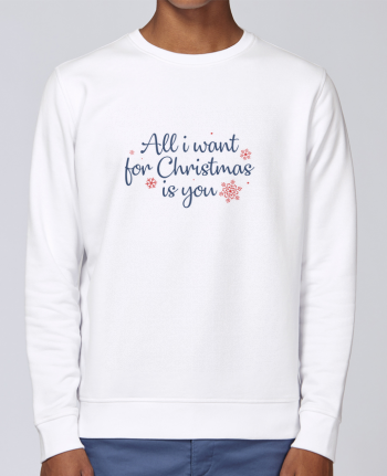 Sweatshirt Crewneck Medium Fit Rise All i want for christmas is you by Nana