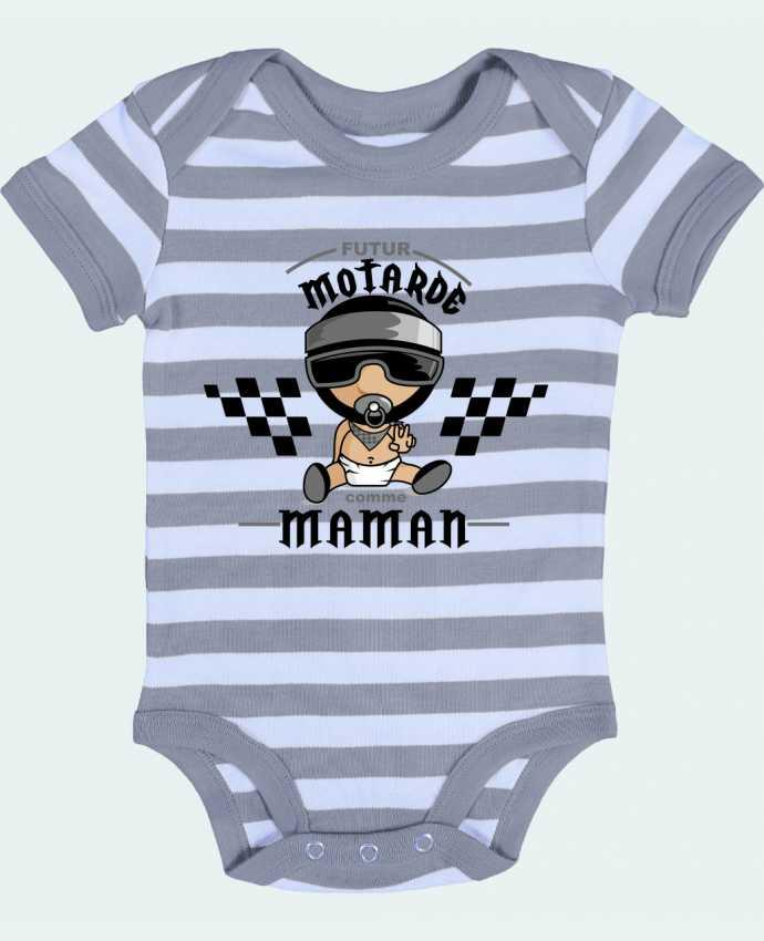 Baby Body striped Futur motarde comma maman - GraphiCK-Kids
