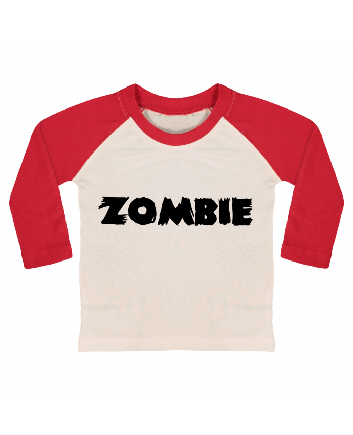 T-shirt baby Baseball long sleeve Zombie by L'Homme Sandwich