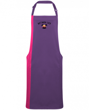 Two-tone long Apron Retired Life by  tunetoo
