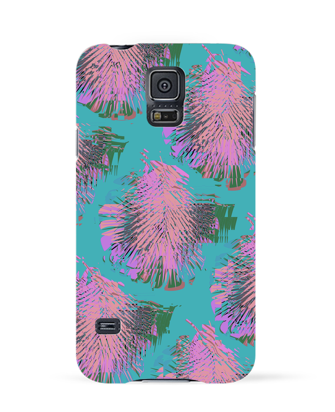 Case 3D Samsung Galaxy S5 Pink Palms by L
