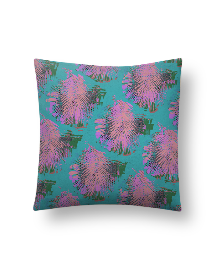 Cushion suede touch 45 x 45 cm Pink Palms by L