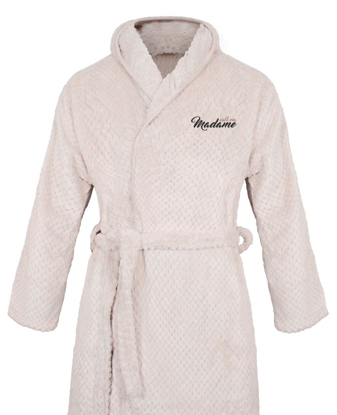 Bathrobe Women Soft Coral Fleece Call me Madame by tunetoo