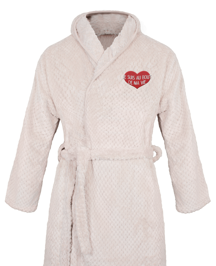 Bathrobe Women Soft Coral Fleece Je suis au bout de ma vie by tunetoo