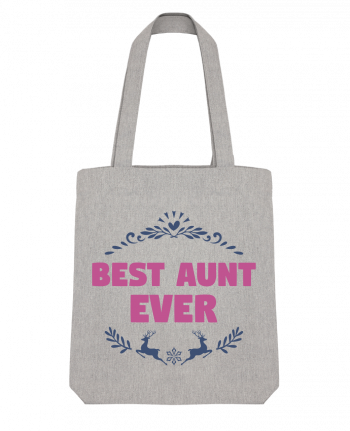 Tote Bag Stanley Stella Christmas - Best Aunt Ever by tunetoo