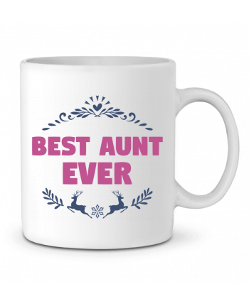 Ceramic Mug Christmas - Best Aunt Ever by tunetoo