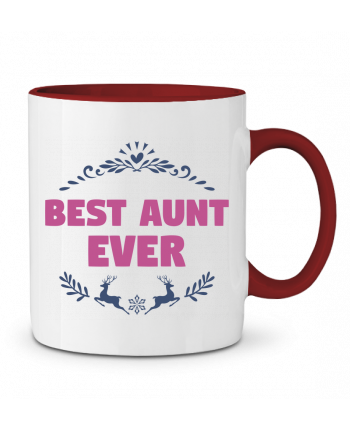 Two-tone Ceramic Mug Christmas - Best Aunt Ever tunetoo