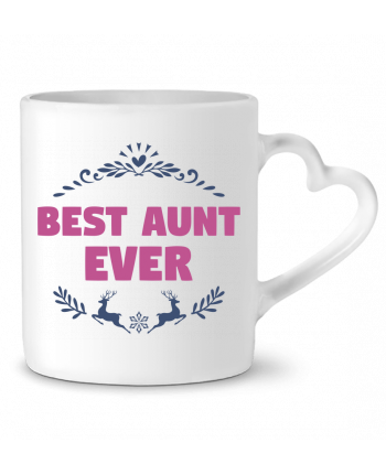 Mug Heart Christmas - Best Aunt Ever by tunetoo