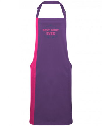 Two-tone long Apron Christmas - Best Aunt Ever by  tunetoo