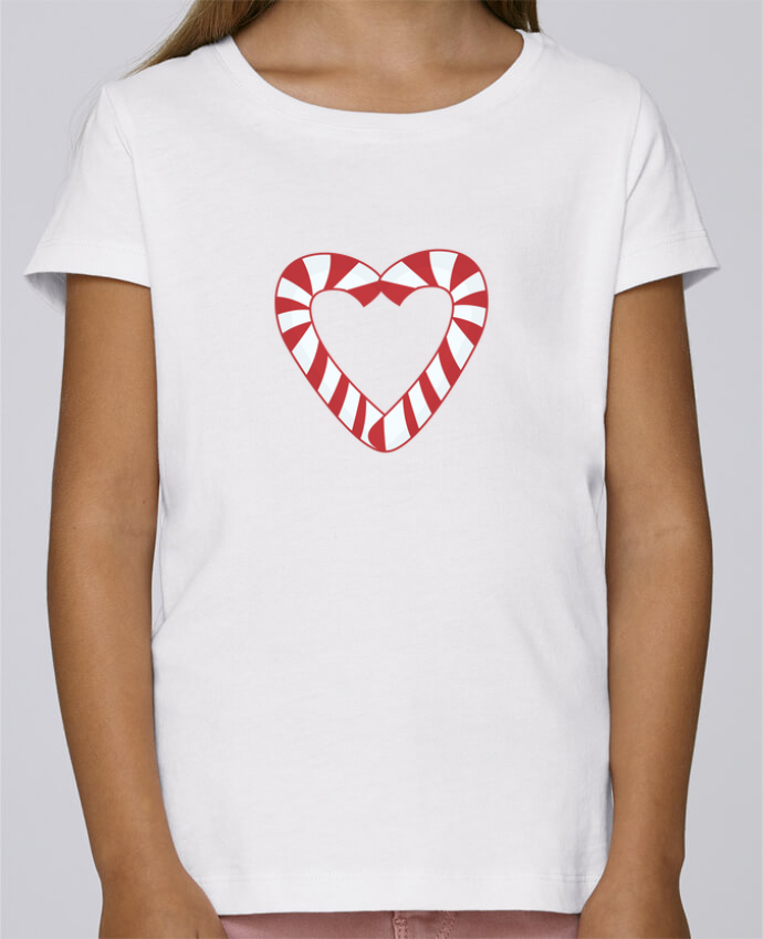 T-shirt Women Stella Draws Christmas Candy Cane Heart by tunetoo