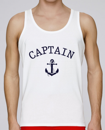 Tank Top Men Stanley Runs Organic cotton Capitain and first mate by tunetoo 100% coton bio