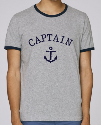 Stanley Contrasting Ringer T-Shirt Holds Capitain and first mate pour femme by tunetoo