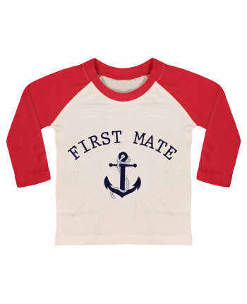 T-shirt baby Baseball long sleeve Capitain and first mate by tunetoo