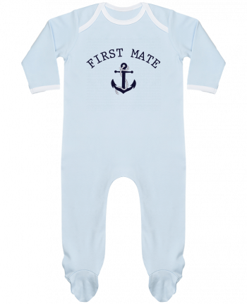 Baby Sleeper long sleeves Contrast Capitain and first mate by tunetoo