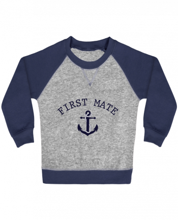 Sweatshirt Baby crew-neck sleeves contrast raglan Capitain and first mate by tunetoo
