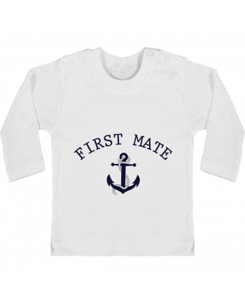 Baby T-shirt with press-studs long sleeve Capitain and first mate manches longues du designer tunetoo