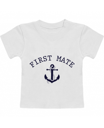 T-Shirt Baby Short Sleeve Capitain and first mate manches courtes du designer tunetoo