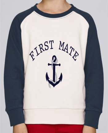 Sweatshirt Kids Round Neck Stanley Mini Contrast Capitain and first mate by tunetoo