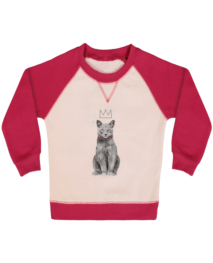 Sweatshirt Baby crew-neck sleeves contrast raglan King Of Everything by Balàzs Solti