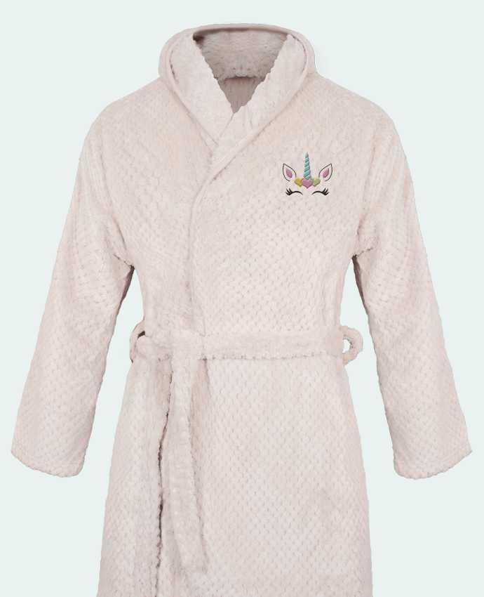 Bathrobe Women Soft Coral Fleece Unicorn by tunetoo