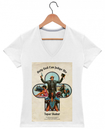 T-Shirt V-Neck Women 2Pac by Ads Libitum
