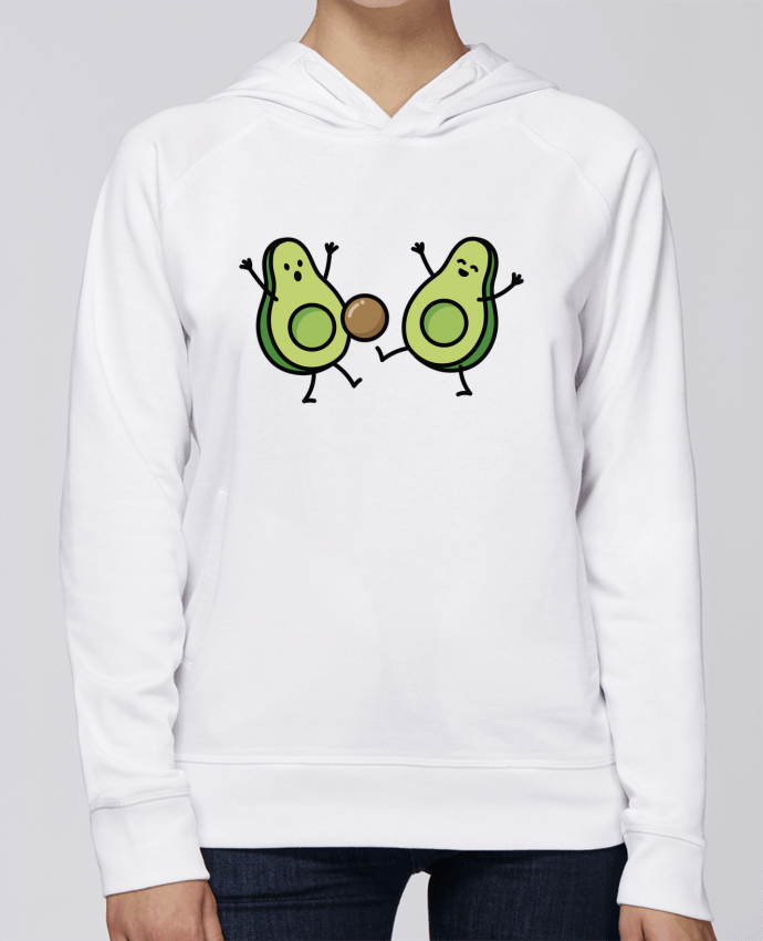 Hoodie Raglan sleeve welt pocket Avocado soccer by LaundryFactory
