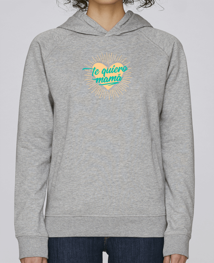 Hoodie Raglan sleeve welt pocket te quiero mamá by tunetoo