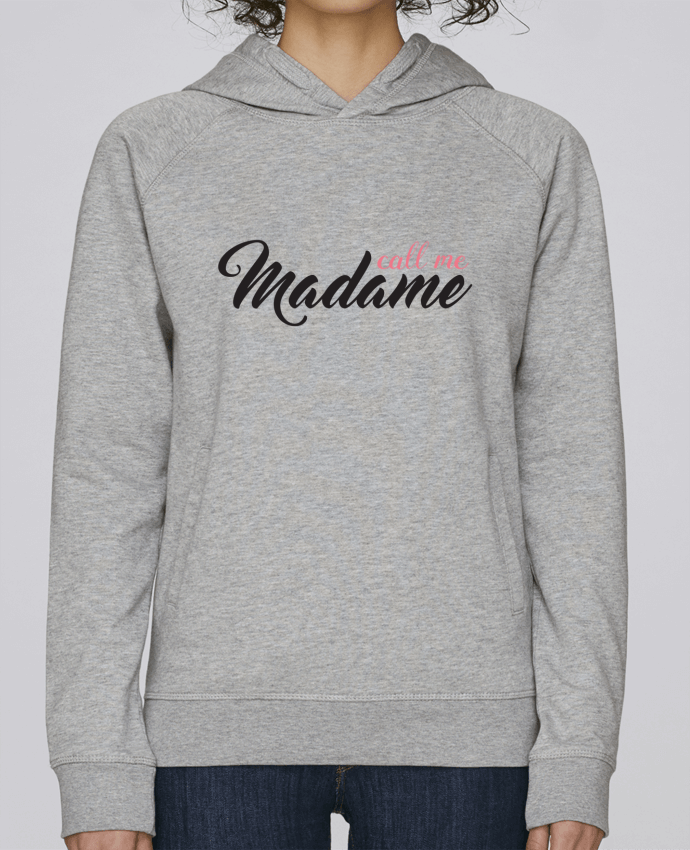 Hoodie Raglan sleeve welt pocket Call me Madame by tunetoo