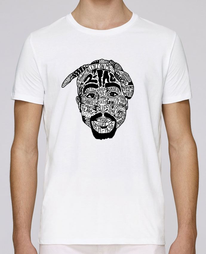 T-shirt crew neck Stanley leads Tupac by Nick cocozza