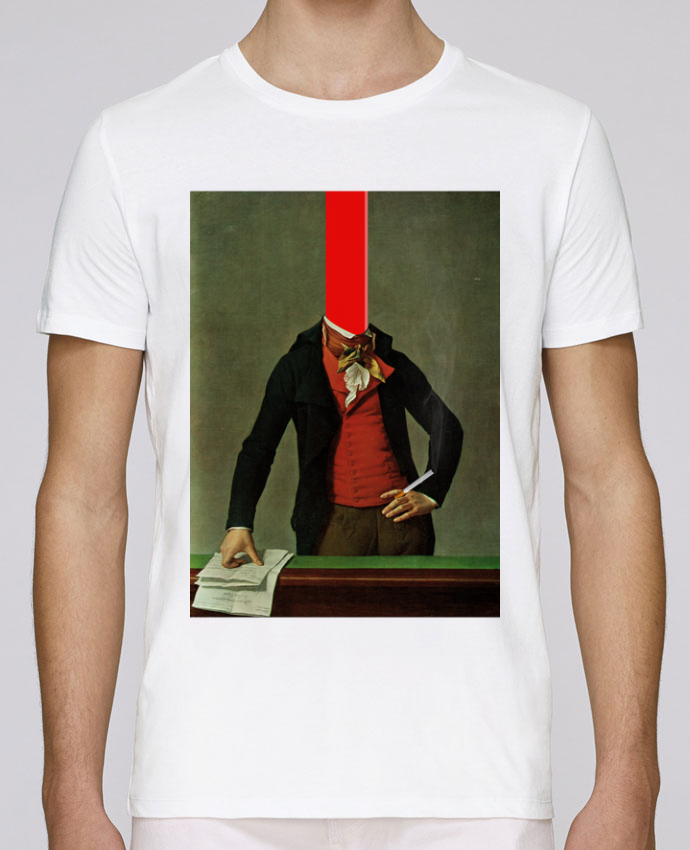 Unisex T-shirt 150 G/M² Leads The red stripe in the head and the cigarette in the hand by Marko Köppe