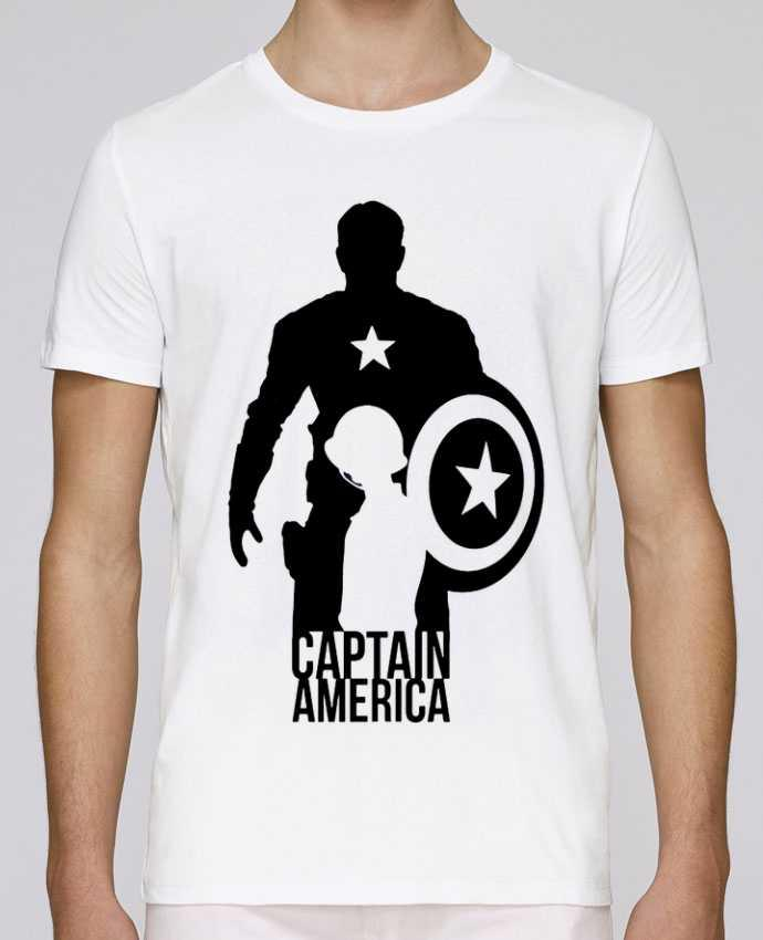 T-shirt crew neck Stanley leads Captain america by Kazeshini