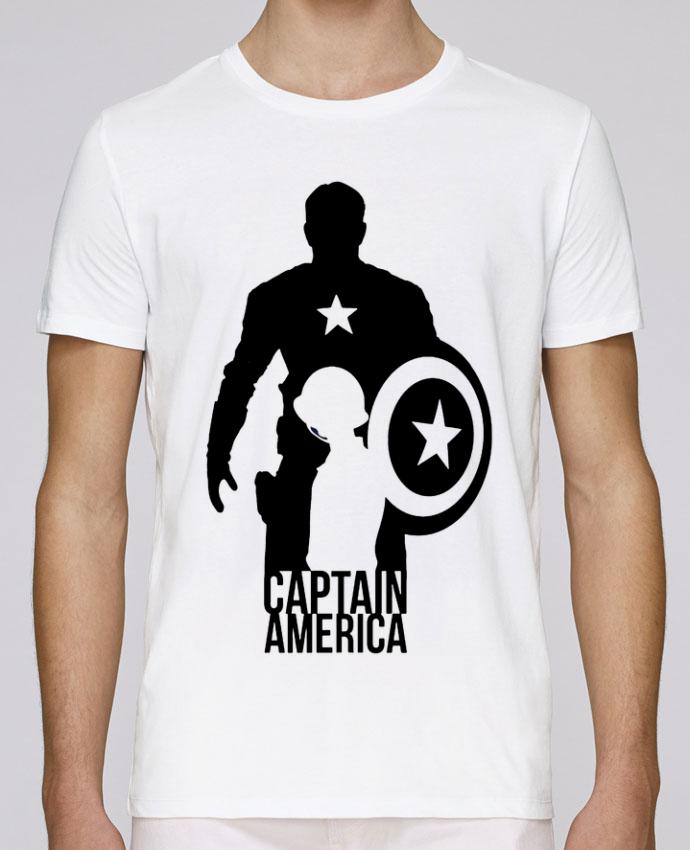 Unisex T-shirt 150 G/M² Leads Captain america by Kazeshini