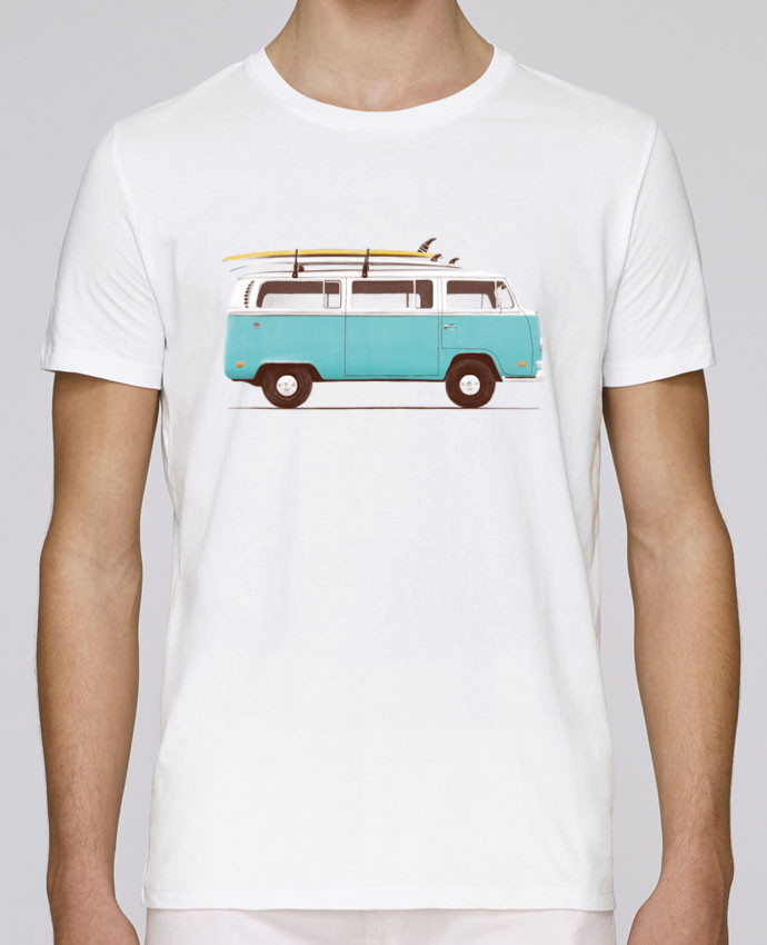 T-shirt crew neck Stanley leads Blue van by Florent Bodart