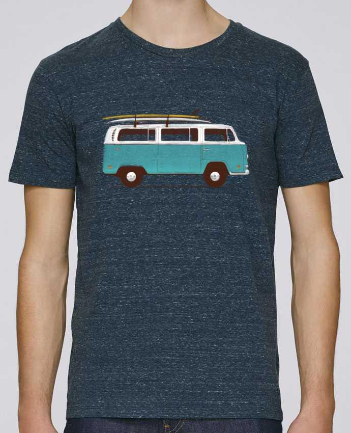 Unisex T-shirt 150 G/M² Leads Blue van by Florent Bodart