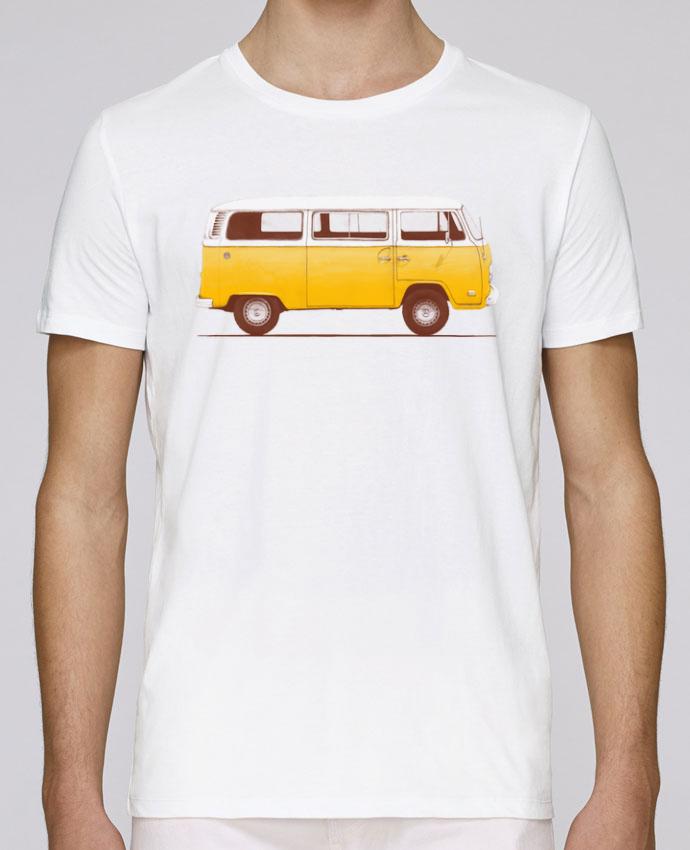 T-shirt crew neck Stanley leads Yellow Van by Florent Bodart