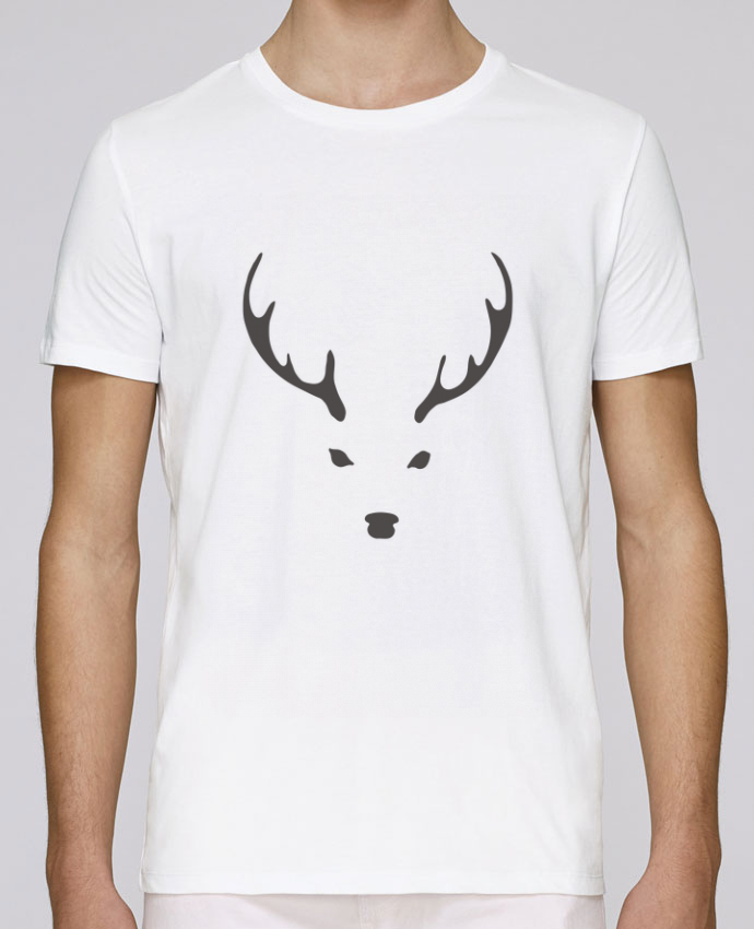 T-shirt crew neck Stanley leads WHITE DEER by Morozinka