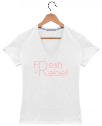 T-Shirt V-Neck Women Fresh and Rebel by tunetoo
