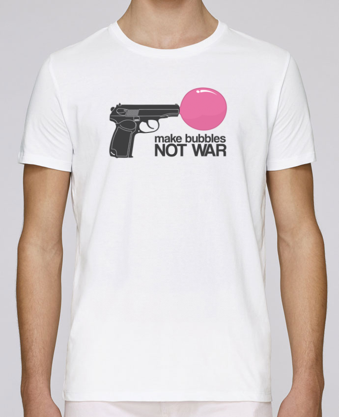 Unisex T-shirt 150 G/M² Leads Make bubbles NOT WAR by justsayin
