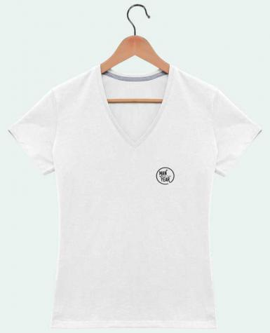 T-Shirt V-Neck Women Man of the year by tunetoo