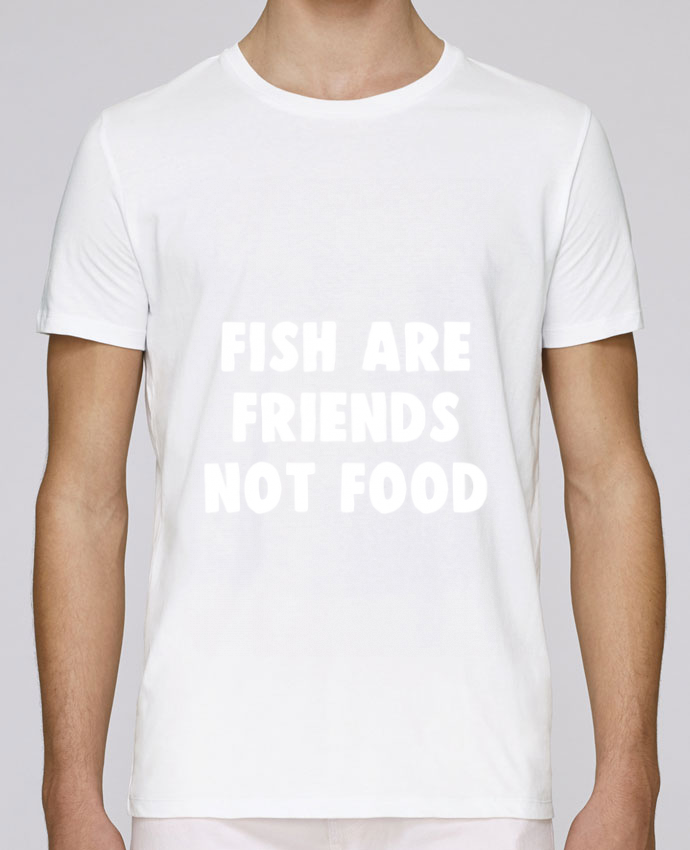 Unisex T-shirt 150 G/M² Leads Fish are firends not food by Bichette